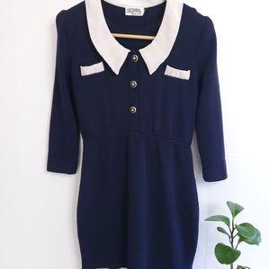 St. JOHN Marie Gray Vintage Sailor Dress